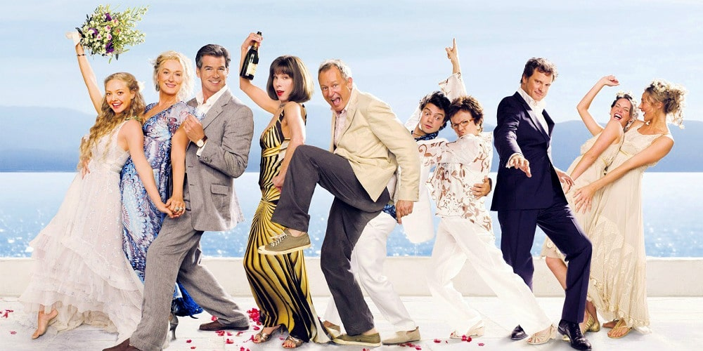 Mamma mia, az esküvős filmek egyik legjobbja.