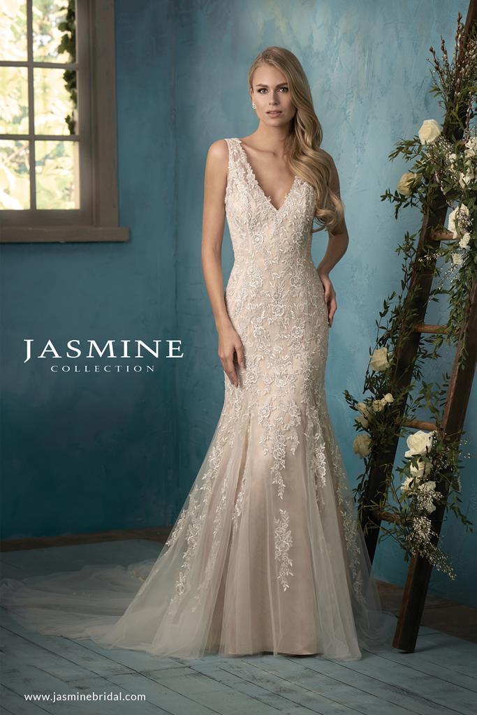Sellő fazonú bérelhető Jasmine Collection menyasszonyi ruha.