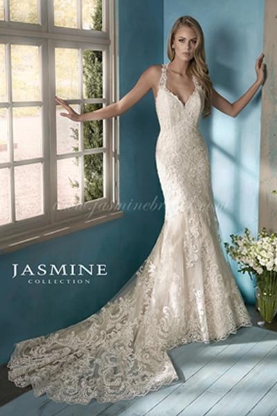 Sellő fazonú kölcsönözhető Jasmine Collection menyasszonyi ruha.