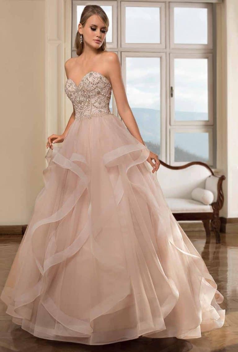 Vízhullámos Demetrios menyasszonyi ruha
