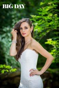 Dobó Ági egy Laura Szalon által forgalmazott menyasszonyi ruhában.