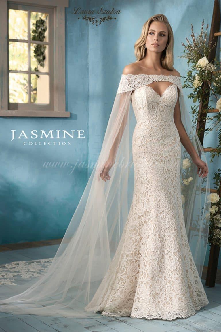 Bérelhető Jasmine Collection menyasszonyi ruha.
