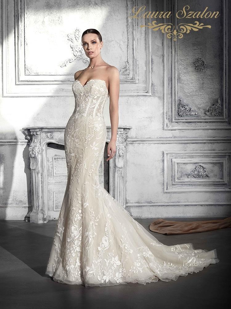 Sellő fazonú Demetrios menyasszonyi ruha.