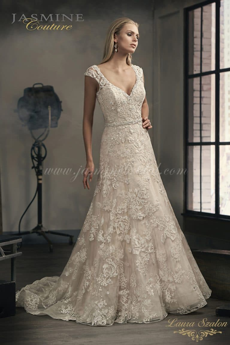 Vintage Jasmine Couture esküvői ruha.