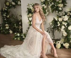 Vintage Jasmine couture menyasszonyi ruha.