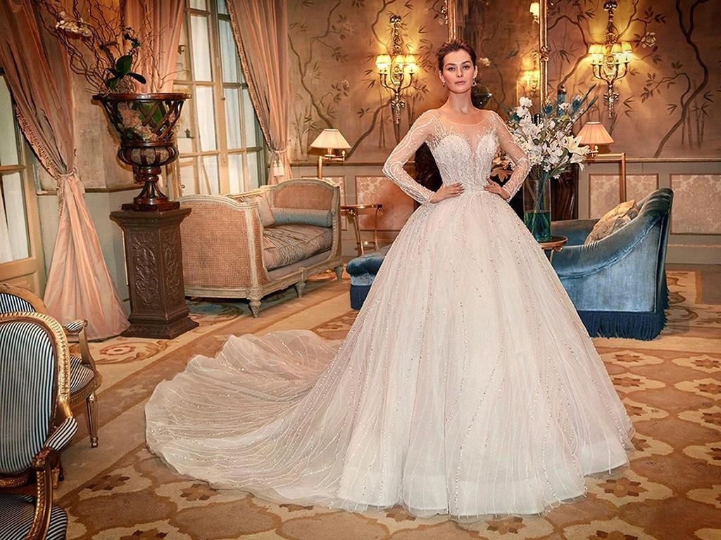Demetrios Platinum menyasszonyi ruha DP431